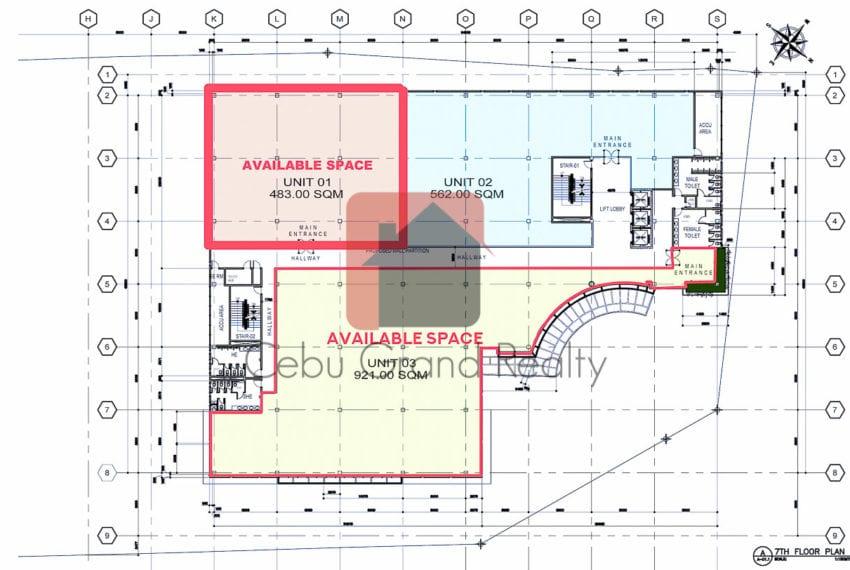 RCP190D 483 SqM Office Space for Rent in Mandaue Cebu Grand Real