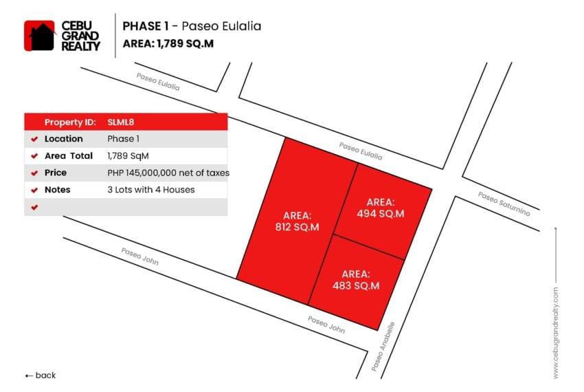 SLML8 1789 SqM 3 Lots for Sale in Maria Luisa Park - Cebu Grand Realty (2)