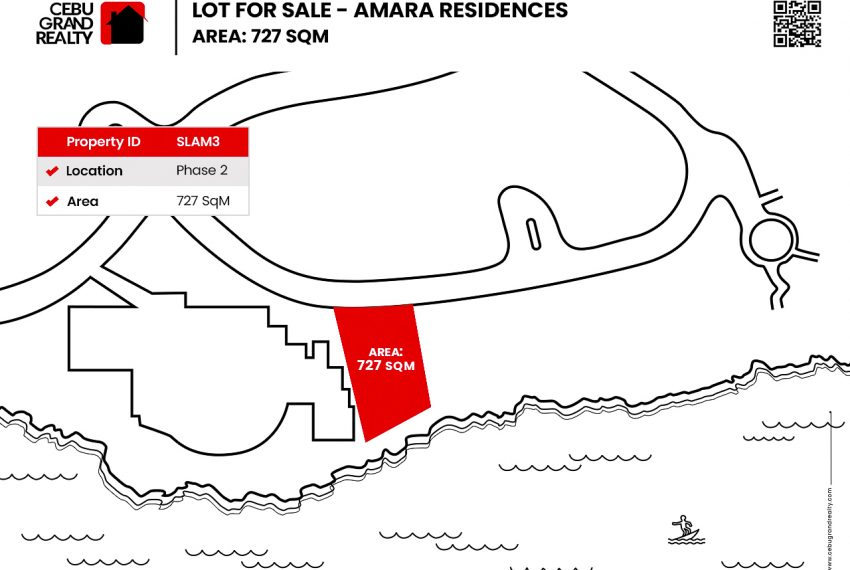 SLAM3 - Premier Beachfront Lot for Sale in Amara Residences - Phase 2 - 727 SqM - Cebu Grand Realty (