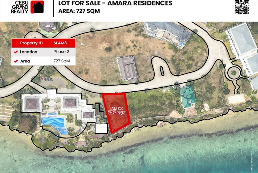 SLAM3 - Premier Beachfront Lot for Sale in Amara Residences - Phase 2 - 727 SqM - Cebu Grand Realty (1)