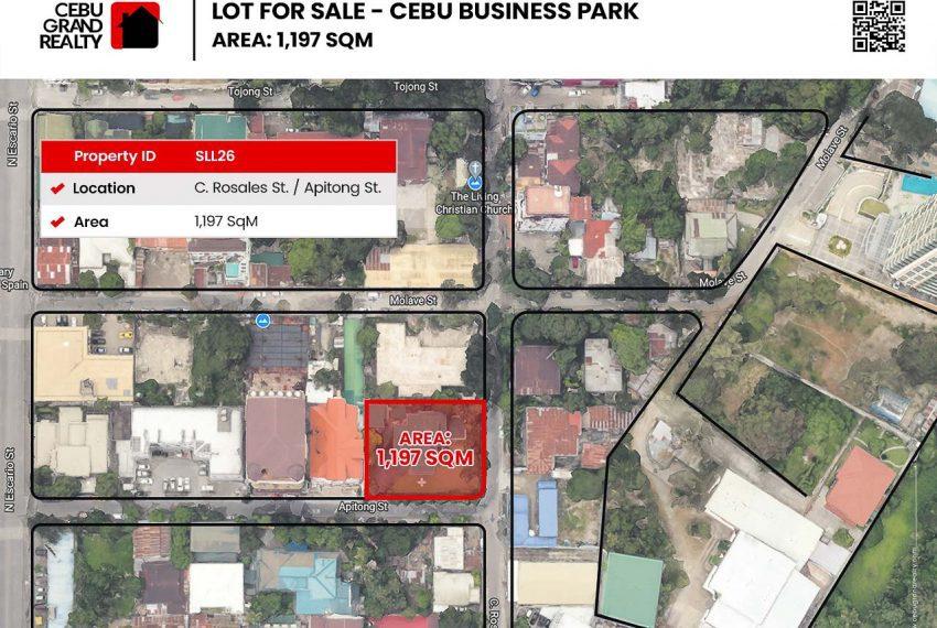 SLL26 - 1197 SqM Lot for Sale near Cebu Business Park - Cebu Grand Realty