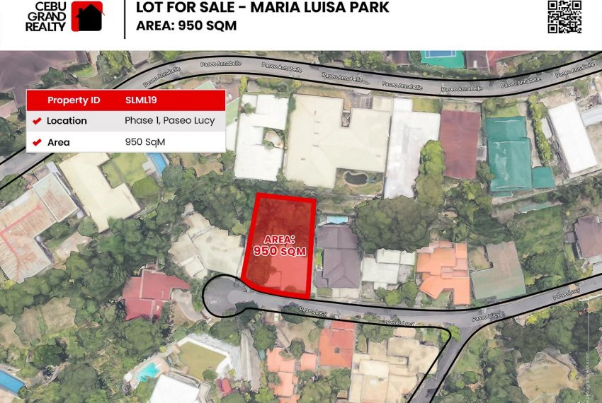SLML19 950 SqM Flat Lot for Sale in Maria Luisa Park Phase 1 - Cebu Grand Realty